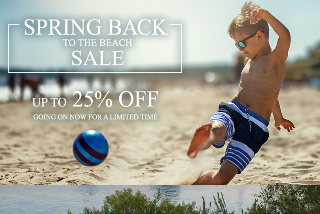 Spring Back to the Beach Sale