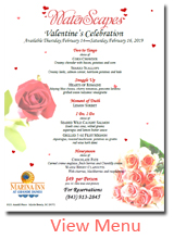 Myrtle Beach Valentines Day Menu